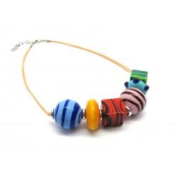 Collana in Vetro di Murano - Mod. Zulù, 45 cm (Colori Assortiti)