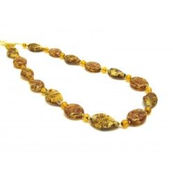 Murano Glass Necklace - Mod. Algaran, 50 cm (Available in 3 Colours)