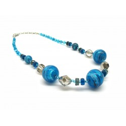Murano Glass Necklace - Mod. Lisa, 50 cm (Available in 4 Colours)