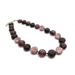 Murano Glass Necklace - Mod. Alba, 50 cm (Available in 4 Colours)