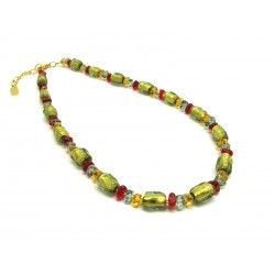 Murano Glass Necklace - Mod. Asola, 50 cm (Available in 4 Colours)