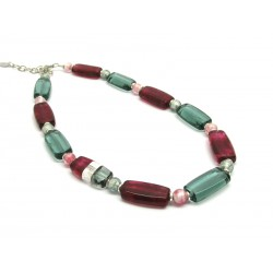 Murano Glass Necklace - Mod. Ancora, 50 cm (Available in 2 Colours)