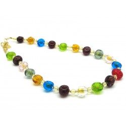 Murano Glass Necklace - Mod. Amai, 50 cm (Available in 3 Colours)