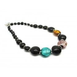 Murano Glass Necklace - Mod. Aseo, 50 cm (Available in 3 Colours)