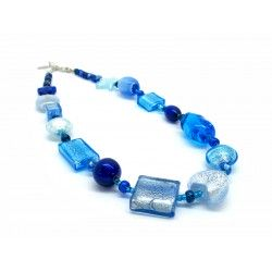 Murano Glass Necklace - Mod. Archimede, 50 cm - Short (Available in 4 Colours)