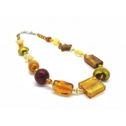 Murano Glass Necklace - Mod. Archimede, 100 cm - Long (Available in 4 Colours)