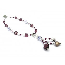 Murano Glass Necklace - Mod. Caravella, 50 cm (Available in 4 Colours)