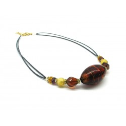 Murano Glass Necklace - Mod. Elettra, 45 cm (Available in 3 Colours)
