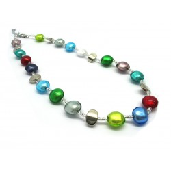 Murano Glass Necklace - Mod. Francesca, 50 cm (Available in 5 Colours)