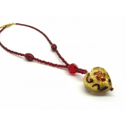 Murano Glass Necklace - Mod. Giulia, 45 cm (Available in 6 Colours)