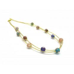 Collana in Vetro di Murano - Mod. Jessy 45 cm (Disponibile nei colori Gold e Silver)
