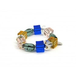 Murano Glass Bracelet - Mod. Marilù, 21 cm (Available in 3 Colours)