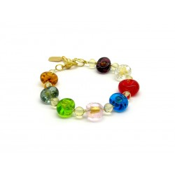 Murano Glass Bracelet - Mod. Amai, 21 cm (Available in 3 Colours)