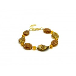 Murano Glass Bracelet - Mod. Algaran, 21 cm (Available in 3 Colours)