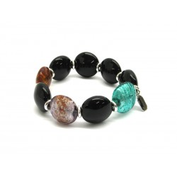Murano Glass Bracelet - Mod. Aseo, 21 cm (Available in 3 Colours)