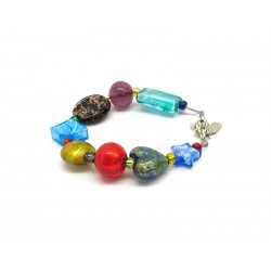 Murano Glass Bracelet - Mod. Archimede, 21 cm (Available in 4 Colours)