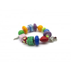 Murano Glass Bracelet - Mod. Zulù, 21 cm (Available in assorted Colours)