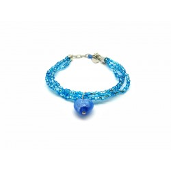 Murano Glass Bracelet - Mod. Giulia, 21 cm (Available in 6 Colours)