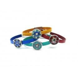 Bracciale in Vetro di Murano - Mod. Denny, 21 cm (Colori Assortiti)
