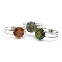 Bracciale in metallo, e vetro di Murano - Mod. Passione, 21 cm (Colori Assortiti)