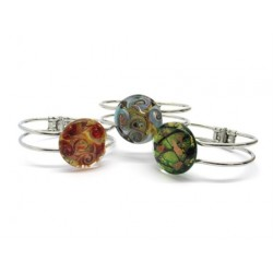 Murano Glass Bracelet - Mod. Passione, 21 cm (Available in assorted Colours)