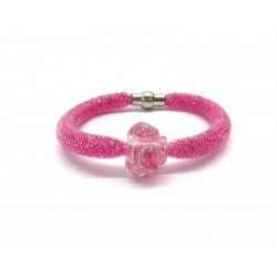 Murano Glass Bracelet - Mod. Rosa del Deserto, 21 cm (Available in assorted Colours)