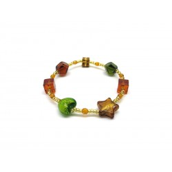 Murano Glass Bracelet - Mod. Caravella, 21 cm (Available in 4 Colours)