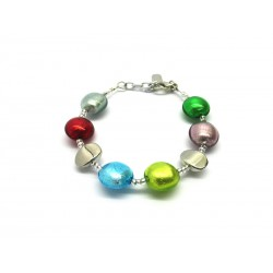 Murano Glass Bracelet - Mod. Francesca, 21 cm (Available in 5 Colours)