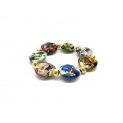 Bracciale in Vetro di Murano - Mod. Vittoria, 21 cm (Disponibile in 5 Colori)