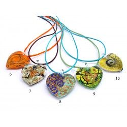 Murano Glass Heart - Mod. Passione - 30x30 mm (Available in 5 assorted Colours)