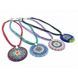 Pendant in Murrina - Mod. Paola - Diam 40 mm (Available in 10 assorted Colours)