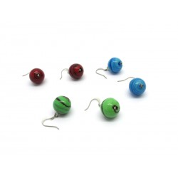 Murano Glass Earrings - Mod. Zulù, 16 mm (Available in assorted Colours)