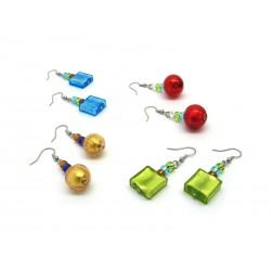 Murano Glass Earrings - Mod. Archimede, (Available in assorted Colours)
