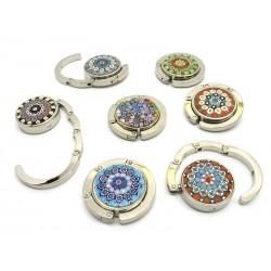 Portaborse in vetro di Murano e metallo, 45x10 mm (Colori assortiti)
