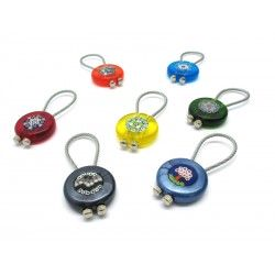 Murano Glass Keychain, 34x10 mm (Available in assorted Colours, Trasparent and Mother)