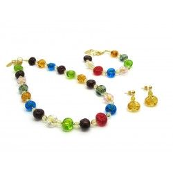Murano Glass Set Mod. Amai (Available in 3 assorted Colours)