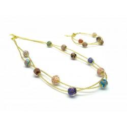 Parure in vetro di Murano Mod. Jessy - 45 cm (Disponibile nei colori, Gold e Silver)