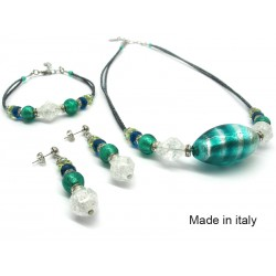Murano Glass Set Mod. Elettra - 45 cm (Available in 3 assorted Colours)