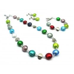 Murano Glass Set Mod. Francesca - 50 cm (Available in 5 assorted Colours)