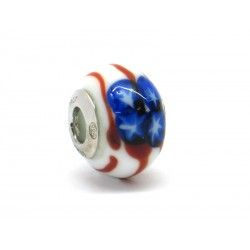 Pandora Style Bead (Mod. BA02) in authentic Murano Glass and 925 Italian Sterling Silver