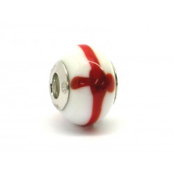 Pandora Style Bead (Mod. BA03) in authentic Murano Glass and 925 Italian Sterling Silver