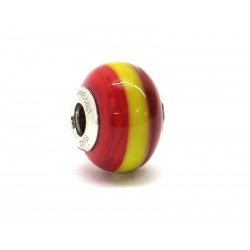 Pandora Style Bead (Mod. BA05) in authentic Murano Glass and 925 Italian Sterling Silver