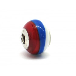 Pandora Style Bead (Mod. BA06) in authentic Murano Glass and 925 Italian Sterling Silver
