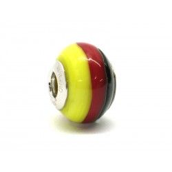 Pandora Style Bead (Mod. BA07) in authentic Murano Glass and 925 Italian Sterling Silver