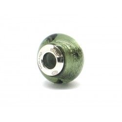 Pandora Style Bead (Mod. FA63) in authentic Murano Glass and 925 Italian Sterling Silver