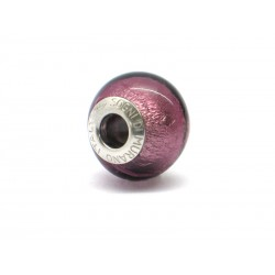 Pandora Style Bead (Mod. FA68) in authentic Murano Glass and 925 Italian Sterling Silver