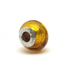 Pandora Style Bead (Mod. FO80) in authentic Murano Glass and 925 Italian Sterling Silver