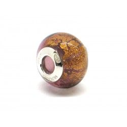 Pandora Style Bead (Mod. FO83) in authentic Murano Glass and 925 Italian Sterling Silver