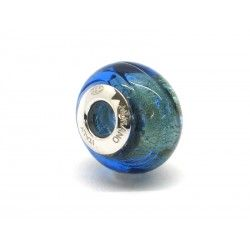 Pandora Style Bead (Mod. FO90) in authentic Murano Glass and 925 Italian Sterling Silver