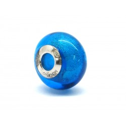 Pandora Style Bead (Mod. FO254) in authentic Murano Glass and 925 Italian Sterling Silver